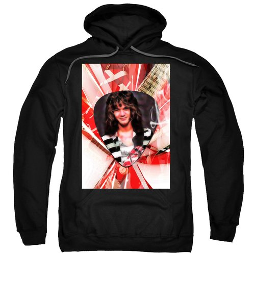 Eddie Van Halen Art Sweatshirt by Marvin Blaine