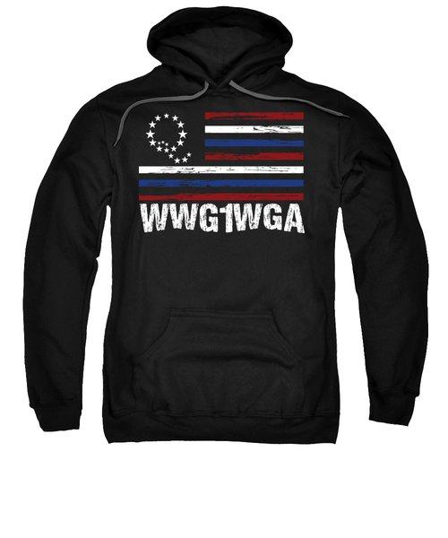 Qanon Art Storm The Great Awakening Wwg1wga Dark Sweatshirt