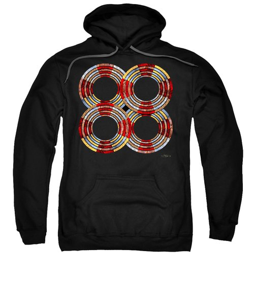 6 Concentric Rings X 4 Sweatshirt