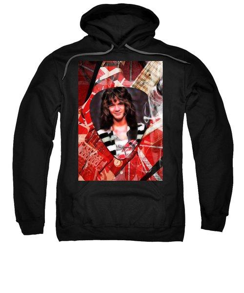 Eddie Van Halen Art Sweatshirt by Marvin Blaine
