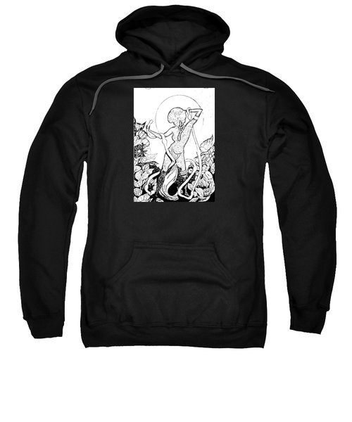 Sweatshirt featuring the digital art Pinup by ReInVintaged