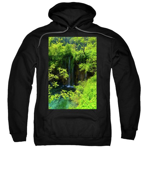 Waterfall In Plitvice National Park In Croatia Sweatshirt