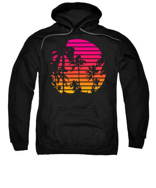 80s Tropical Sunset Sweatshirt
