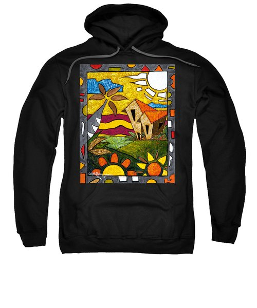 Sweatshirt featuring the painting A Beautiful Day by Oscar Ortiz