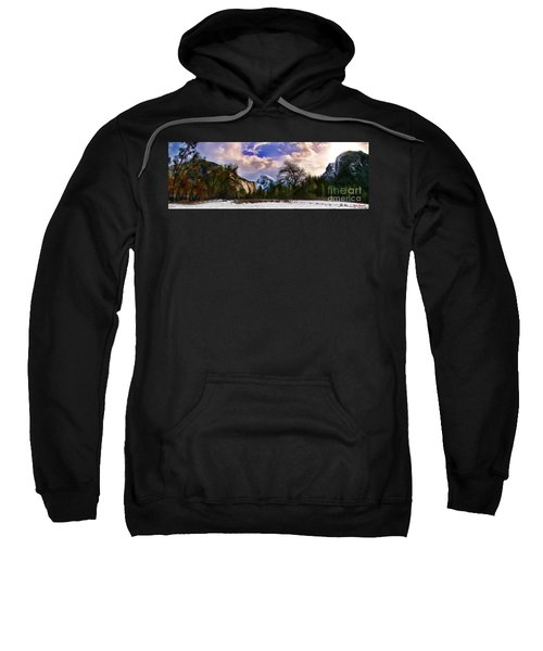 A Cold Yosemite Half Dome Morning Sweatshirt