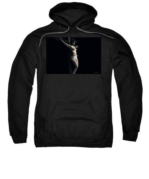 A Female Crucifix Sweatshirt