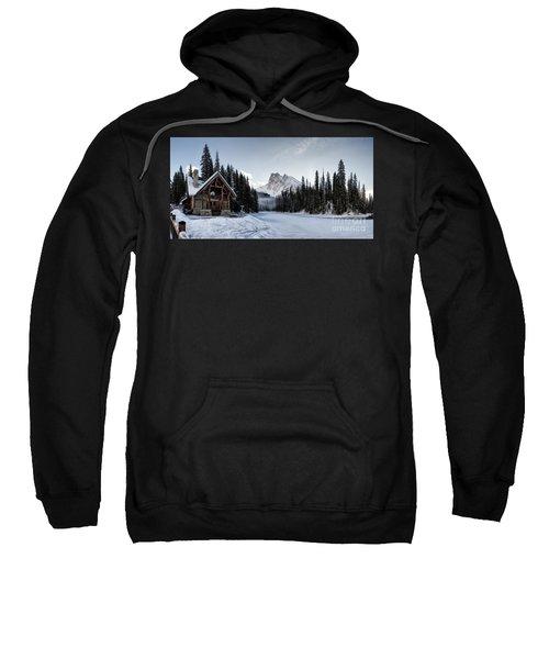 A Frozen Emerald Lake Morning Sweatshirt