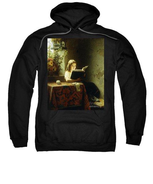 A Girl Reading Sweatshirt