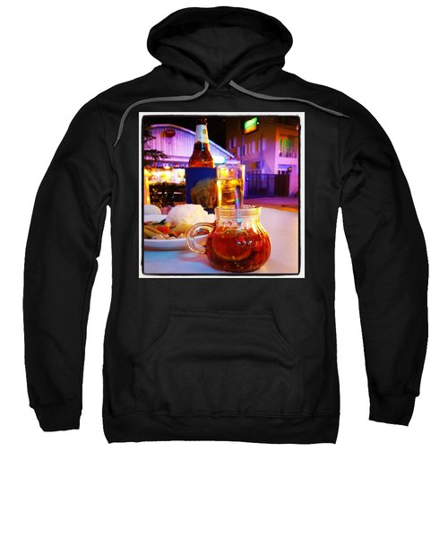 Sweatshirt featuring the photograph A Little Dab Will Do Yah. It's Sliced by Mr Photojimsf