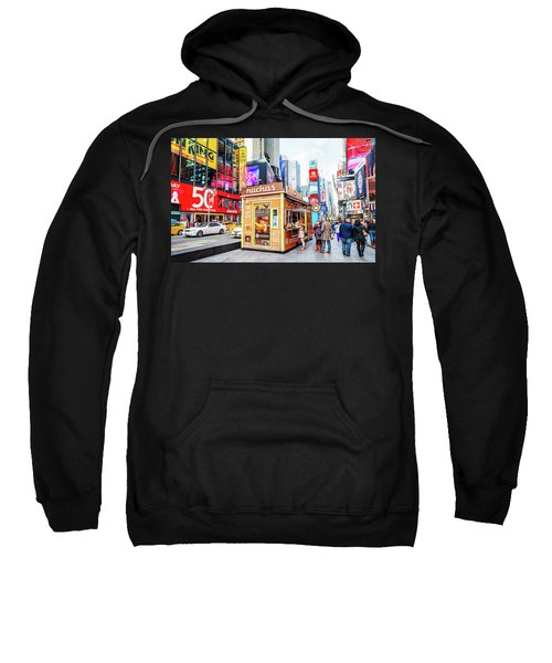A Portable Food Stand In New York Times Square Sweatshirt