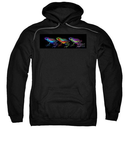 A Row Of Rainbow Frogs Sweatshirt