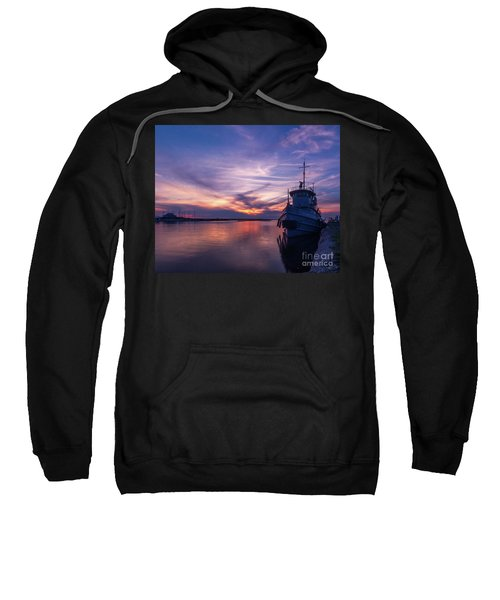 A Tugboat Sunset Sweatshirt