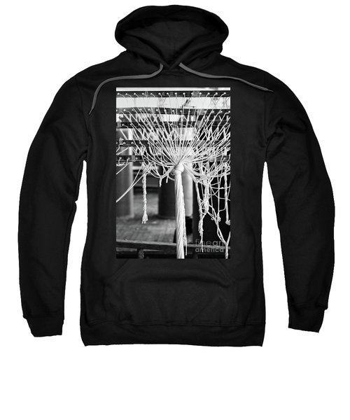 Abandoned Textile Mill, Lewiston, Maine  -48692-bw Sweatshirt