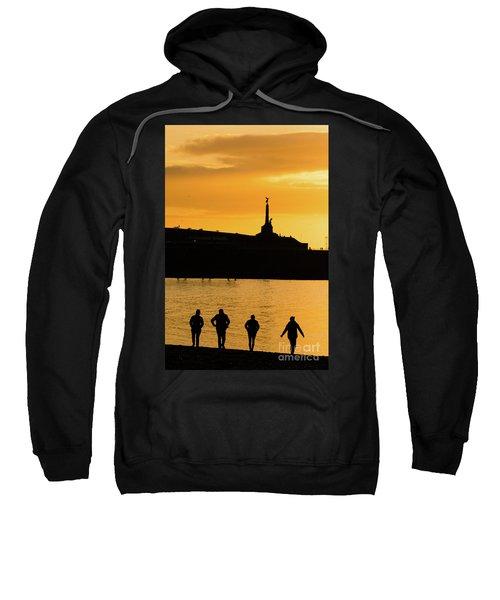 Aberystwyth Sunset Silhouettes Sweatshirt