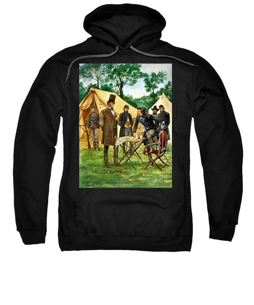 Abraham Lincoln Plans His Campaign During The American Civil War  Sweatshirt