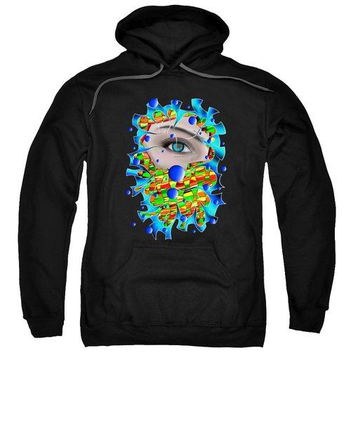Abstract Digital Art - Delaneo V4 Sweatshirt