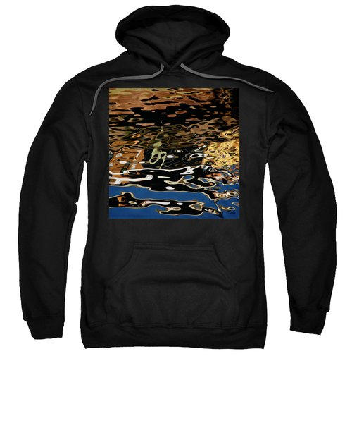 Abstract Dock Reflections II Color Sq Sweatshirt