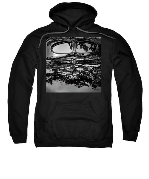 Abstract Reflection Bw Sq II - Vehicle Sweatshirt