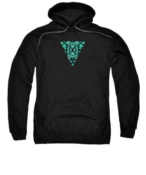 Abstract Surreal Chaos Theory In Modern Poison Turquoise Green Sweatshirt