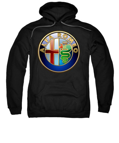 Alfa Romeo - 3 D Badge On Black Sweatshirt