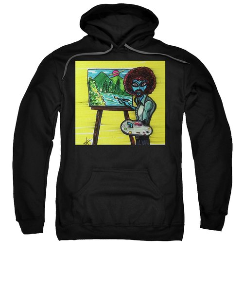 alien Bob Ross Sweatshirt