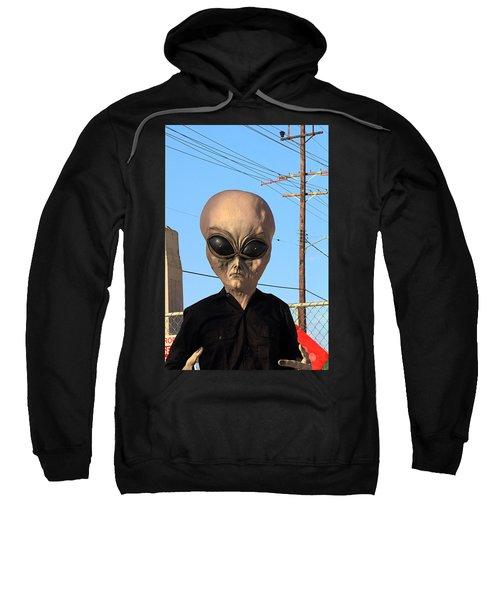 Alien Face At 6th Street Bridge Sweatshirt