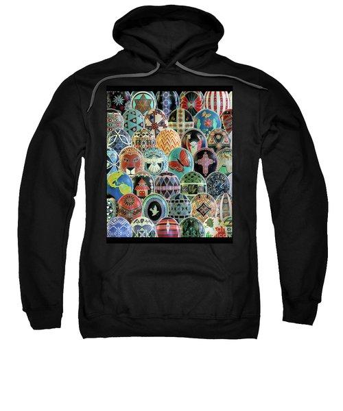 All Ostrich Eggs Collage Sweatshirt