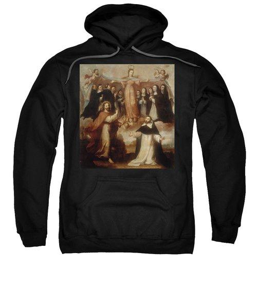 Allegory Of The Virgin Patroness Of The Dominicans Sweatshirt