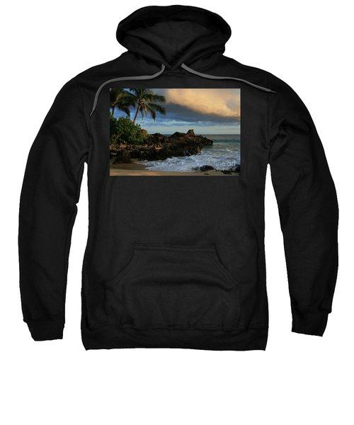 Aloha Naau Sunset Paako Beach Honuaula Makena Maui Hawaii Sweatshirt by Sharon Mau