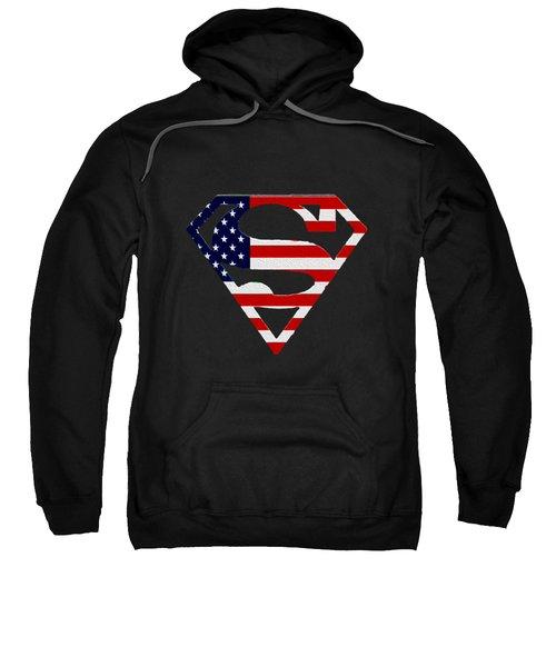 American Flag Superman Shield Sweatshirt