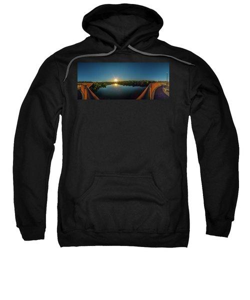 American River At Sunrise - Panorama Sweatshirt
