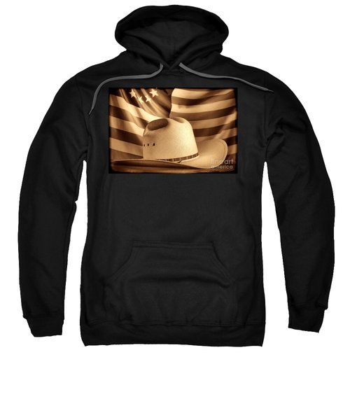 American Rodeo Cowboy Hat Sweatshirt