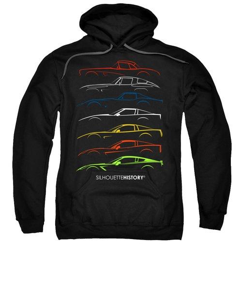 American Sports Car Silhouettehistory Sweatshirt