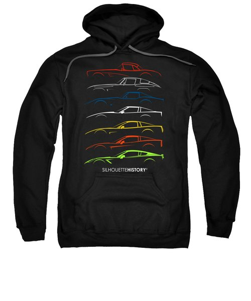 American Sports Car Silhouettehistory Sweatshirt