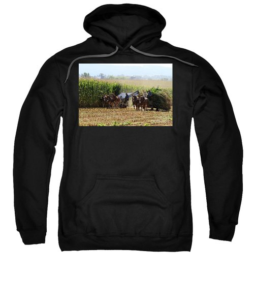 Amish Men Harvesting Corn Sweatshirt