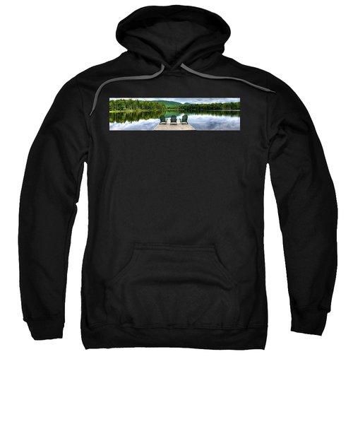Sweatshirt featuring the photograph An Adirondack Panorama by David Patterson