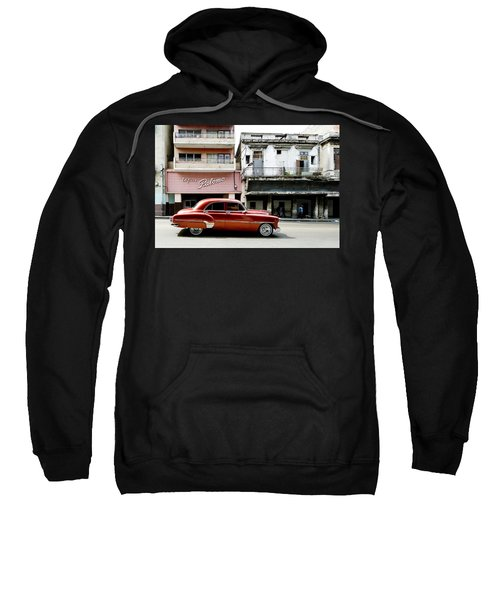Sweatshirt featuring the photograph An American In Havana by Denis Rouleau