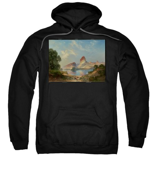 Sweatshirt featuring the painting An Indian Paradise , Green River, Wyoming by Thomas Moran
