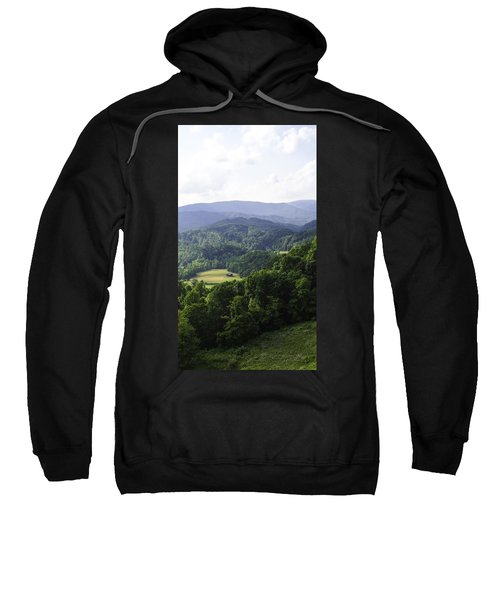 Sweatshirt featuring the photograph An Old Shack Hidden Away In The Blue Ridge Mountains by Kim Pate