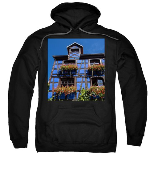 Ancient Alsace Auberge In Blue Sweatshirt