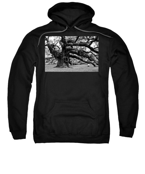 Angel Oak Tree 2009 Black And White Sweatshirt