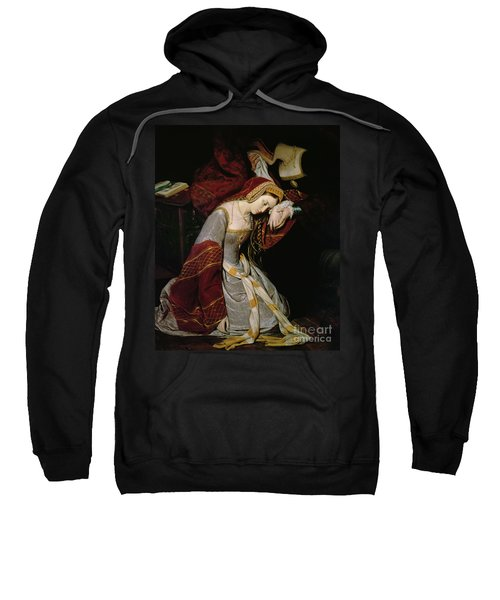 Anne Boleyn In The Tower Sweatshirt by Edouard Cibot