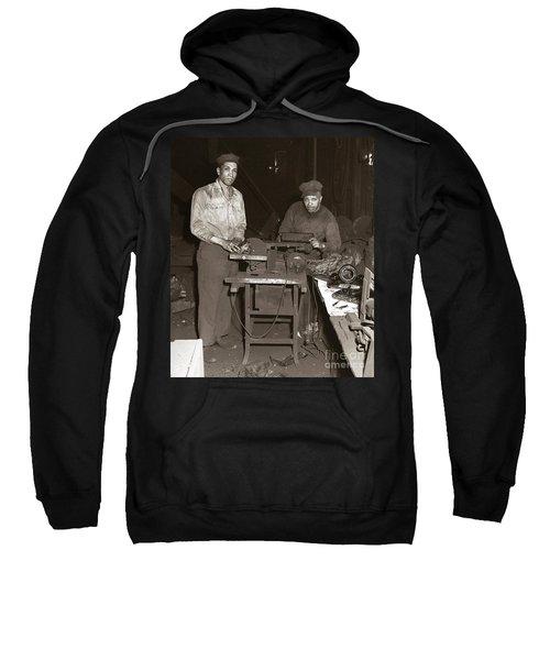 Anthracite Coal Artist  Charles Edgar Patience On Right  1906-1972 In Studio 1953    Sweatshirt