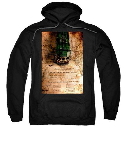 Antique Melbourne Travel Map Sweatshirt