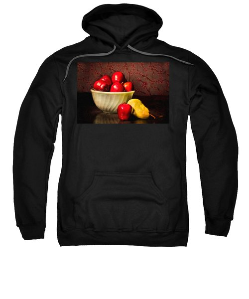 Apples In Bowl With Pear Sweatshirt