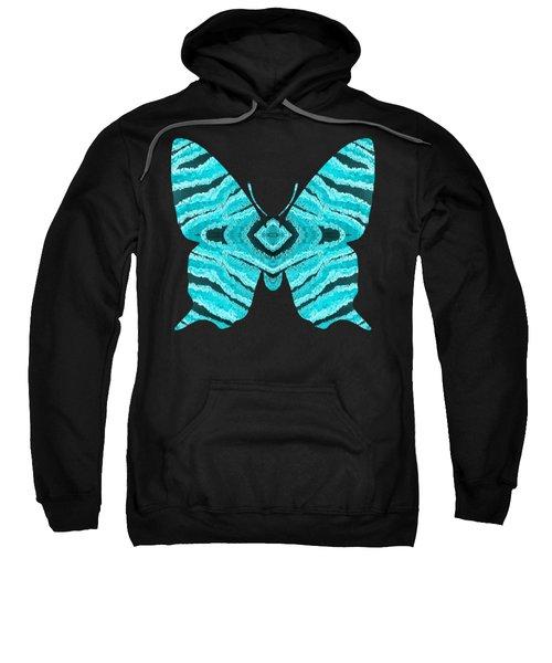 Aqua Blue Butterfly  Sweatshirt