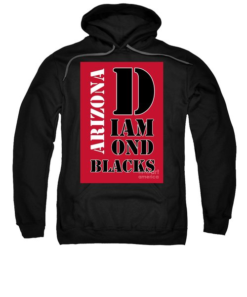 Arizona Diamondbacks Baseball Typography Red Sweatshirt by Pablo Franchi