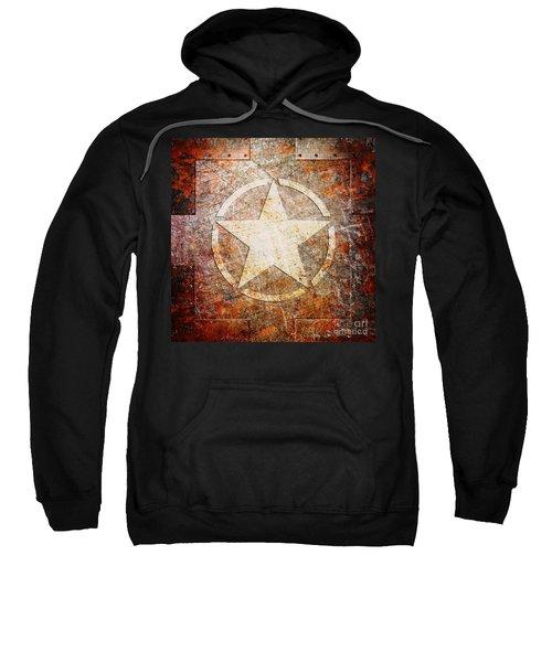 Army Star On Rust Sweatshirt