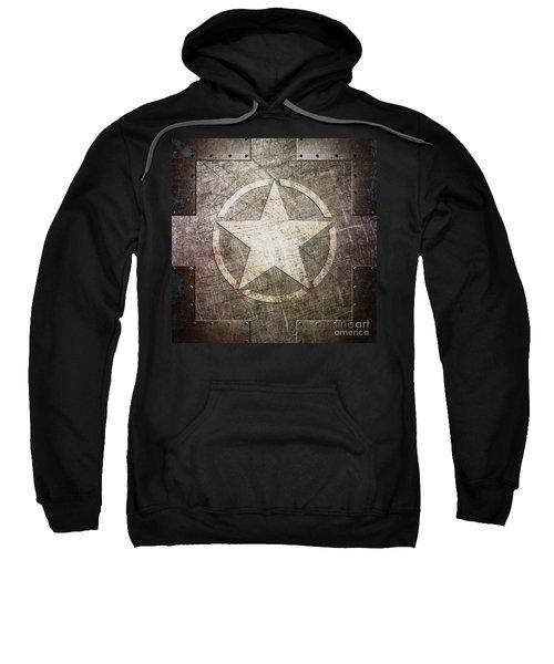 Army Star On Steel Sweatshirt