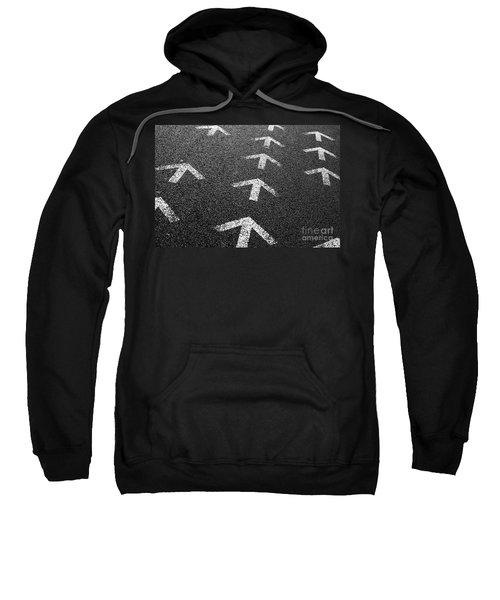 Arrows On Asphalt Sweatshirt
